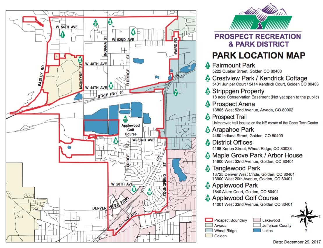 Park District Boundary Map Prospect Recreation Park District